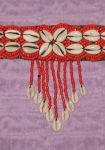 Cowry and Beaded Choker Red
